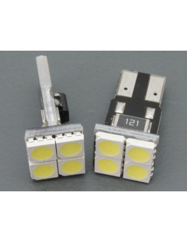 T10 W5W 4 Smd 5050 Frontales