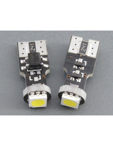 Bombillas LED T10 W5W canbus 1 smd 5050