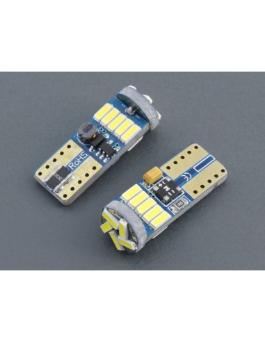 Bombillas LED T10 W5W Canbus 15 smd 4014