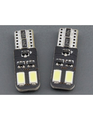 T10 W5W Canbus 4 smd 5630 doble cara